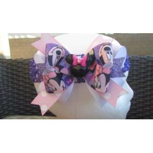 Minnie Mouse Sparkly Purple and Pink Hair Bow Beauty