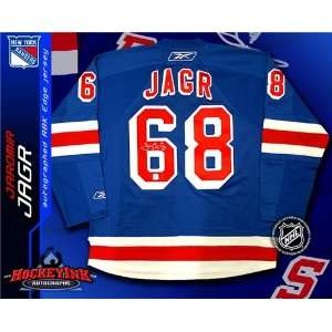 Signed New York Rangers Blue Reebok Premier Jersey