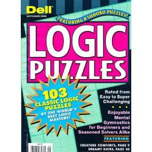 Dell Logic Puzzles Magazine Dell Books