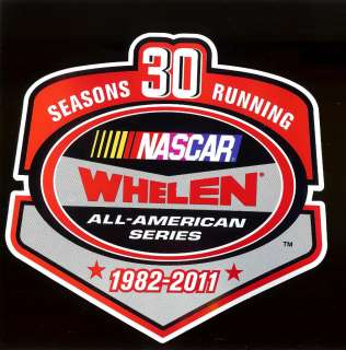 30 Years Running 2011 NASCAR WHELEN All American Series Decal