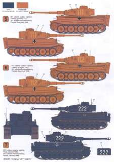 Techmod Decals 1/35 PzKpfw VI TIGER E TANK EARLY PRODUCTION