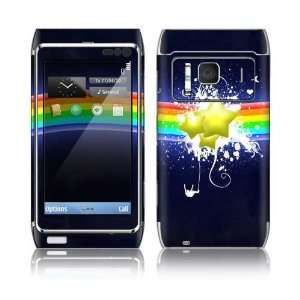 Rainbow Stars Decorative Skin Cover Decal Sticker for Nokia N8 cell