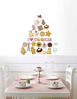 NEW Lovely Cookies Wall Decor Removable Stickers Decals