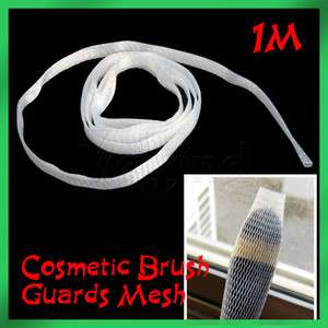 Up Cosmetic Brush Guards Cover Fits Most Mesh Protectors White
