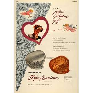 1947 Ad Elgin American Valentines Day Compact Locket