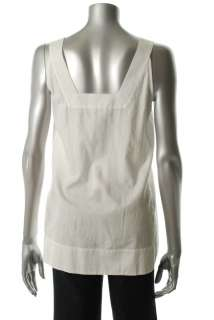 Eileen Fisher NEW Casual Shirt White Cotton Rib Sale Misses S