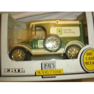 Ertl 1913 Ford Model T Bank Die cast Metal Publix: Toys