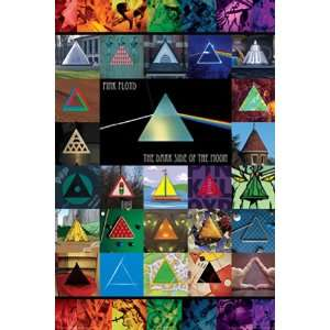 Pink floyd Poster Dark Side Of The Moon Collage 241004