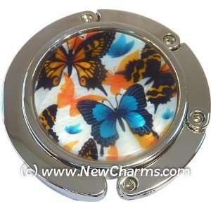Butterflies Foldable Purse Hanger Handbag Table Hook Jewelry