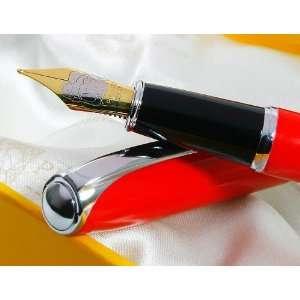 Picasso Malaga Pure Red Gold Plated B Nib Fountain Pen