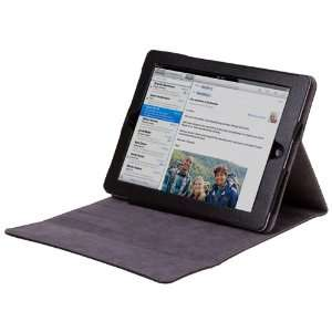 com CE Compass Black Leather Cover Case Stand For Apple The New iPad