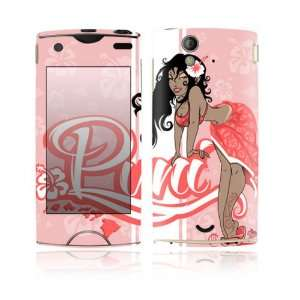 Xperia Ray Decal Skin Sticker   Puni Doll Pink