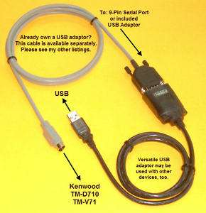Programming Cable Kenwood TM D710 TM V71 PG 5G PG5G