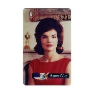 Kennedy Collectible Phone Card $21.(Black) Jackie Kennedy