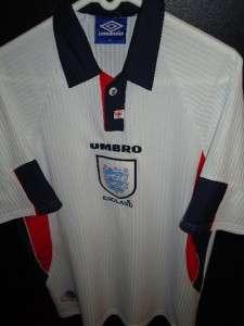 EC VTG UMBRO UK JERSEY ENGLAND FOOTBALL SHIRT MENS L