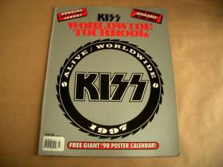 1997 ALIVE WORLDWIDE TOUR BOOK w/POSTER CALENDAR Gene Simmons
