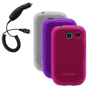 , Hot Pink) & Car Charger for Samsung Freeform III / Comment / R380