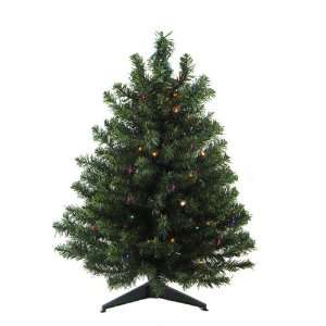 Operated Pre Lit LED Pine Artificial Christmas Tree   Multi Lights