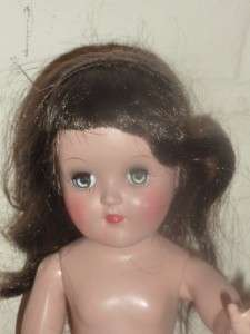 14 Ideal 1950s Toni doll P90 Black Hair   Hard Plastic