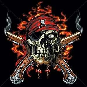Pirate Skull Dual Pistols Harley Rider T Shirt M To 4X Hot Seller