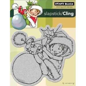 Penny Black Cling Rubber Stamp 4X5 1/4 Little Elf Finn