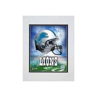 Detroit Lions Helmet Logo (2004) Double Matted 8 X 10 Photograph