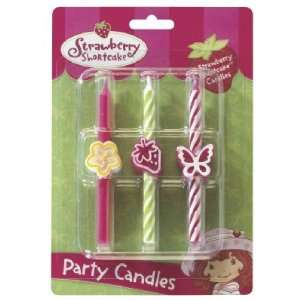 6 pc Strawberry Shortcake Birthday Cake Candles: Toys & Games