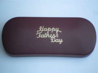FATHERS DAY red metal glasses case GREAT GIFT
