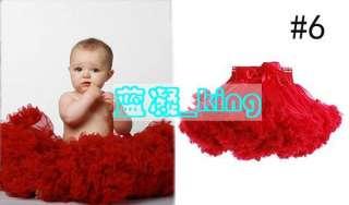 Pettiskirt bow Ballet Skirt child kids baby toddler girl Tutu ruffle
