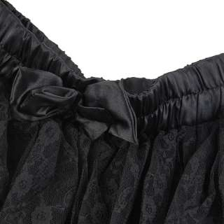Women Ladies Fashion Black Lace Gauze 5 Tiered Skirt