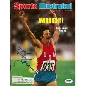 Bruce Jenner Autographed 1976 Sports Illustrated PSA/DNA