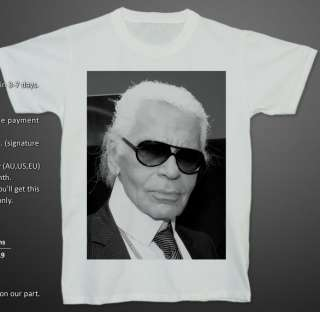 KARL LAGERFELD Fashion Haute Couture Guru T shirt XL
