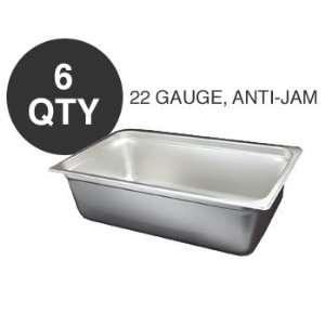6 NEW FULL SIZE 6D ANTI JAM STEAM TABLE PAN   NSF