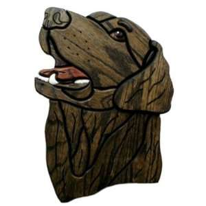 Flat Coated Retriever Wooden Dog Plaque Home & Kitchen