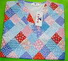 NURSES UNIFORM SCRUB TOP LITTLE QUILTS XS NEW W TAGS