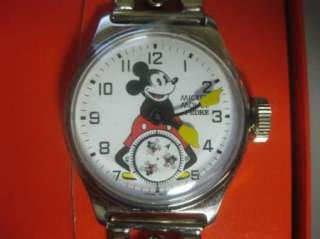 Disney Pedre Ingersoll Mickey Mouse Watch Metal Band
