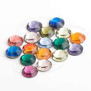 144 SWAROVSKI Rhinestones Flatback SS16 Assorted Colors
