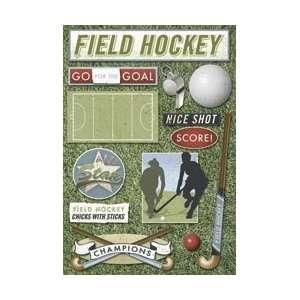 Karen Foster Field Hockey Cardstock Stickers 5.5X9 Sheet