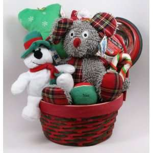 Merry Medley Mouse Dog Toy Gift Basket