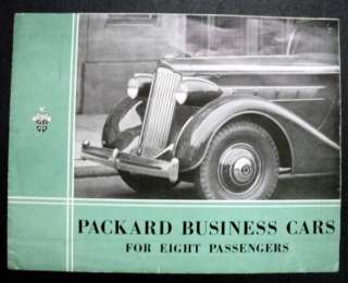 Packard 1935 Business Cars For 8 Passengers Brochure
