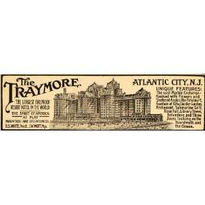 1915 Ad Traymore Worlds Largest Fireproof Resort Hotel