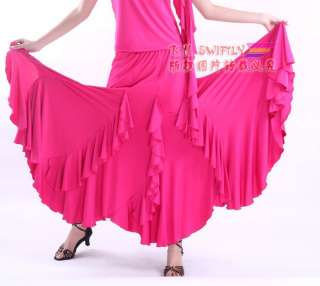 Latin salsa flamenco Ballroom Dance Dress #M071 skirt