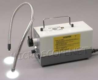 Dual Flexible Gooseneck Fiber for Microscope Cold Light
