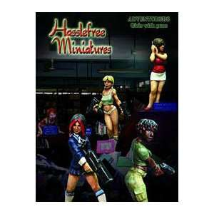 Hasslefree Adventurers Girls With Guns Miniatures Set