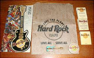 HARD ROCK CAFE HRC Collection of Pins, Matchbooks, Bags