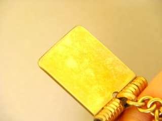 SIGNED FORSTNER 12K GF DIARY MOVEABLE CHARM BRACELET GOLD FILLED