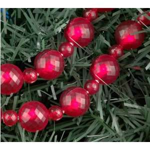 6 Ft. Red LED Lighted Beaded Christmas Garland #UL1902R