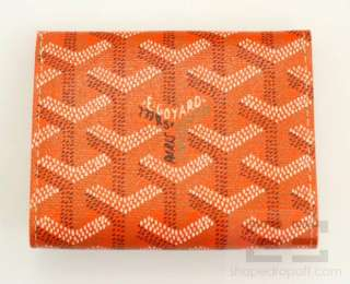 Goyard Orange Chevron Coated Canvas & Leather Small Coin Purse Wallet
