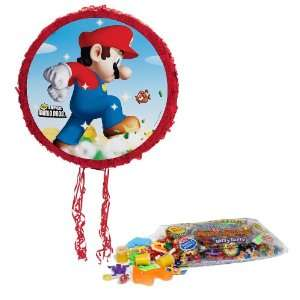 Super Mario Bros. Pull String Pinata Kit   Includes Pinata