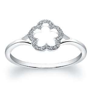 Victoria Kay 14k White Gold Diamond Flower Ring (1.10cttw